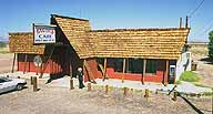 The Bagdad Cafe, and proprietress; Newberry Springs, California