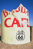 An old bit of movie memorabilia; Newberry Springs, California