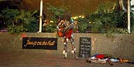 A picture of an Aboriginal Busker; Brisbane, Queensland