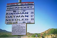 National Old Trails Sign; Hackberry, Arizona