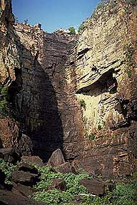 A picture of Aboriginal Rock Paintings; Kakadu National Park; Northern Territory, Australia