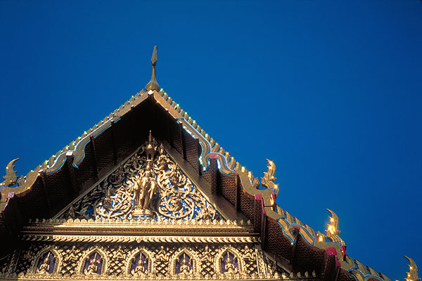 A Temple Gable<br>Grand Palace<br>Bangkok, Thailand: The Grand Palace, Bangkok, Thailand : Buildings; Temples.