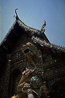 Dragons protect the temple :: Chiang Mai, Thailand