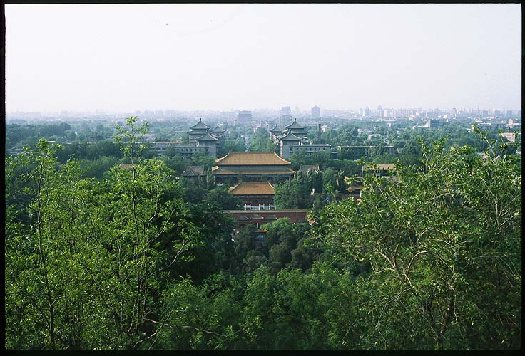 The View North from Jinshan, looking away from<br>The Forbidden City :: Beijing, China: The Forbidden City, Beijing, People's Republic of China : Landscapes; City Scenes.