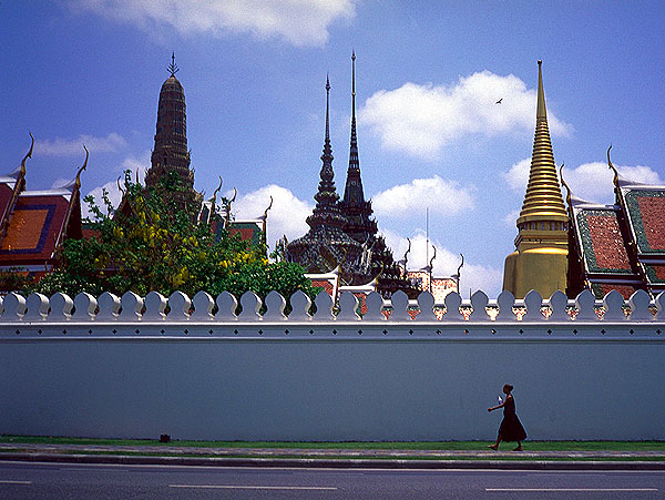 A moment of solitude<br>On the busy Chao Phraya<br>Bangkok, Thailand: The Grand Palace, Bangkok, Thailand : People You Meet; Temples.