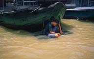 A moment of solitude :: On the busy Chao Phraya :: Bangkok, Thailand