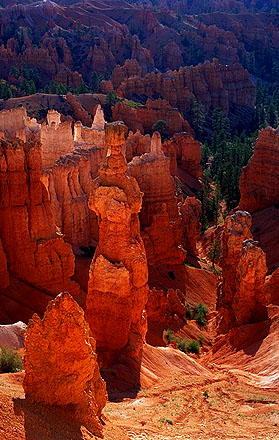 Thor's Hammer<br>Sunset Point<br>Bryce Canyon National Park<br>Utah, USA: Bryce Canyon National Park, Utah, United States of America : Sunsets; Geological Formations.