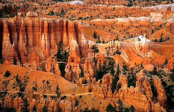 Dusk at Sunrise Point<br>A Telephoto Essay<br>Bryce Canyon National Park<br>Utah, USA: Bryce Canyon National Park, Utah, United States of America : Landscapes; Geological Formations.