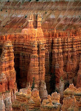 Dusk at Sunrise Point<br>A Telephoto Essay<br>Bryce Canyon National Park<br>Utah, USA: Bryce Canyon National Park, Utah, United States of America ; Geological Formations.