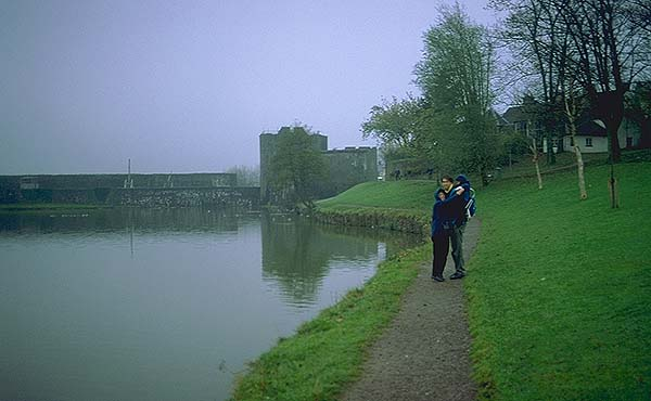 A Welsh Castle<br>Caerphilly, Wales.: Caerphilly, Wales, United Kingdom : People You Meet; Friends.