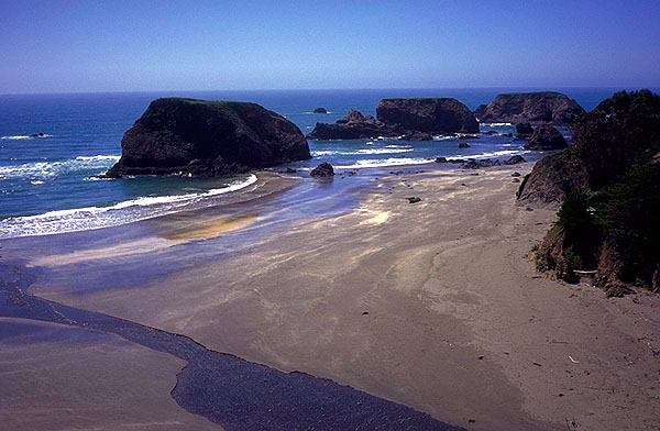 Northern California, USA: California Coast, California, United States of America : Coastal Shoreline Scenes; Landscapes.