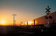 Rail Crossing :: Nearing Ludlow, California