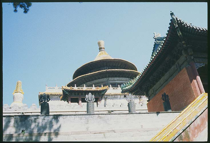 Pule Temple :: The Round Pavilion<br>Chengde, Hebei Province: Chengde, Hebei, People's Republic of China : Buildings; Temples.