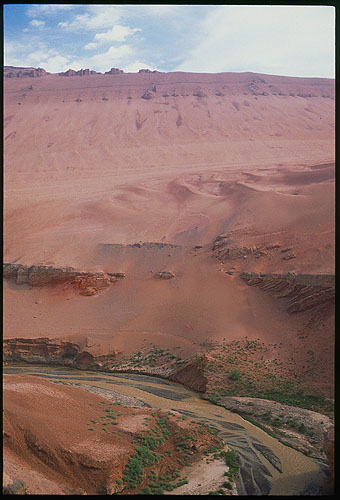 The Flaming Mountinas :: Turpan, Xinjiang: The Flaming Mountains, Xinjiang, People's Republic of China : Geological Formations; Landscapes.