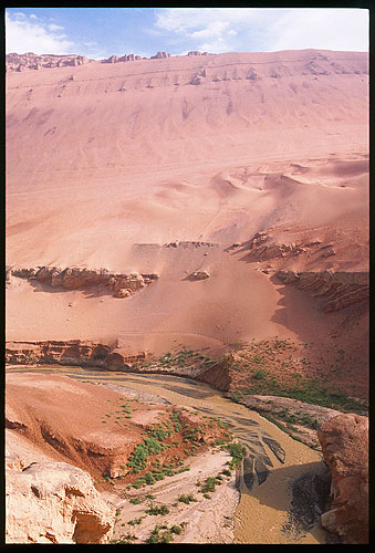 The Flaming Mountinas :: Turpan, Xinjiang: The Flaming Mountains, Xinjiang, People's Republic of China : Rivers; Landscapes.