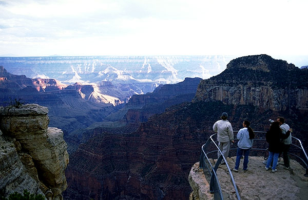 From below the North Rim Lodge<br>Grand Canyon, North Rim<br>Arizona, USA: Grand Canyon National Park, Arizona, United States of America : Landscapes; Canyons.