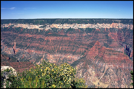 The View from Bright Angel Point<br>Grand Canyon, North Rim<br>Arizona, USA: Grand Canyon National Park, Arizona, United States of America : Landscapes; Canyons.