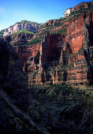 Views from the Bright Angel Trail<br>Grand Canyon, North Rim<br>Arizona, USA: Grand Canyon National Park, Arizona, United States of America : Landscapes; Canyons.