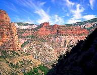 Views from the Bright Angel Trail :: Grand Canyon, North Rim :: Arizona, USA