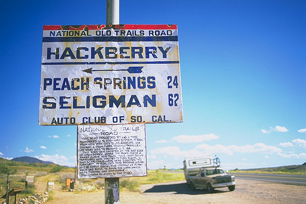 The road before the Mother Road<br>Hackberry, Arizona: Hackberry, Arizona, United States of America : Signs; Rolling Thunder.