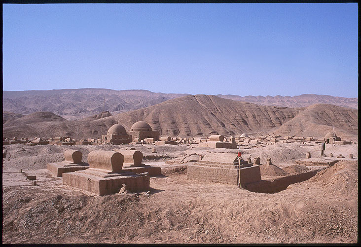 From Hami to Turpan :: Xinjiang, China: Hami to Turpan, Gansu, People's Republic of China : Spoke and Saddle attractions; Cemeteries.