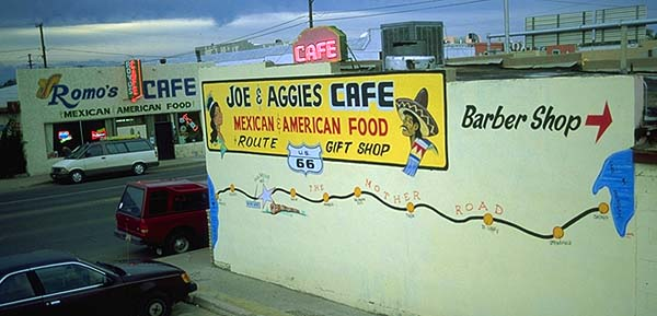 Joe and Aggies Cafe<br>Holbrook, Arizona: Holbrook, Arizona, United States of America : Eat-Drink; Signs.
