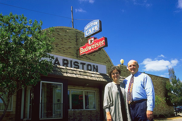 Nick and Demi<br>The Ariston Cafe<br>Litchfield, Illinois: Litchfield, Illinois, United States of America : Eat-Drink; Landmarks.
