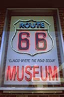 Route 66 Museum and Hall of Fame :: Dixie Trucker's Home :: North of Springfield, Illinois