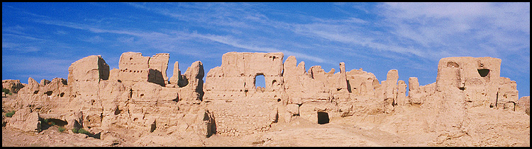 Jiaohe Ruins :: Turpan, Xinjiang: Jiaohe, Xinjiang, People's Republic of China : Ruins and Restorations.