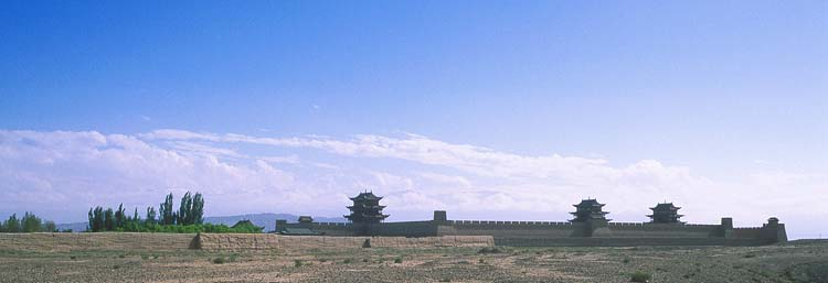 Jiayuguan :: The Fort<br>Westernmost Extent of the Ming Dynasty: Jiayuguan, Gansu, People's Republic of China : Landscapes; Great Wall.