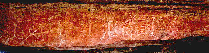 Aboriginal Rock Paintings<br>Kakadu National Park<br>Northern Territory, Australia: Kakadu National Park, Northern Territory, Australia : Indigenous Peoples.