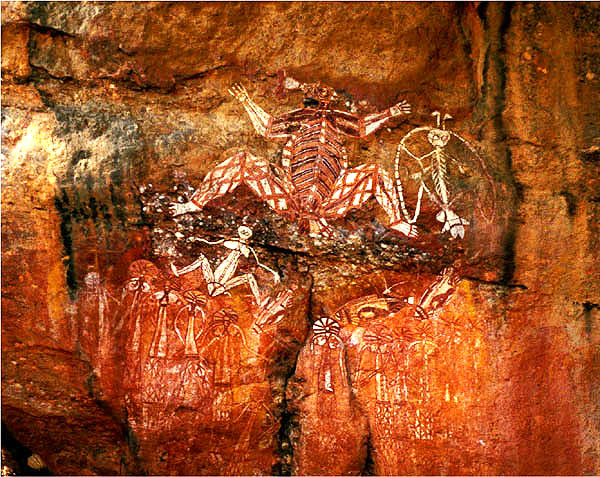 Aboriginal Rock Paintings<br>Kakadu National Park<br>Northern Territory, Australia: Kakadu National Park, Northern Territory, Australia : Indigenous Peoples; Artful Impressions.