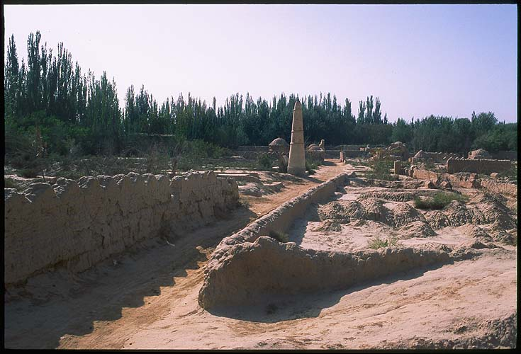 Pilang Ancient City<br>Kuqa :: Xinjiang, China: Ancient Ruins of Pilang, Xinjiang, People's Republic of China : Ruins and Restorations.