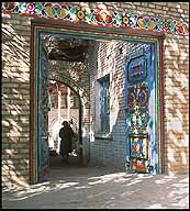 Residential Doorways :: Kuqa :: Xinjiang, China