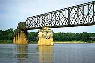 The Chain of Rocks Bridge :: Crossing the Mississippi River to Missouri :: Granite City, Illinois