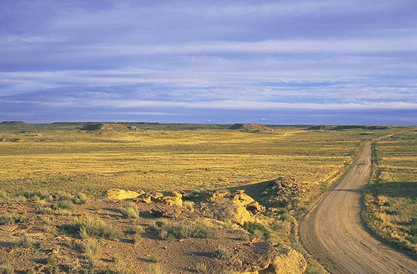 Heading for Chaco Canyon<br>Near Thoreau, New Mexico: Chaco Canyon, New Mexico, United States of America : Landscapes.
