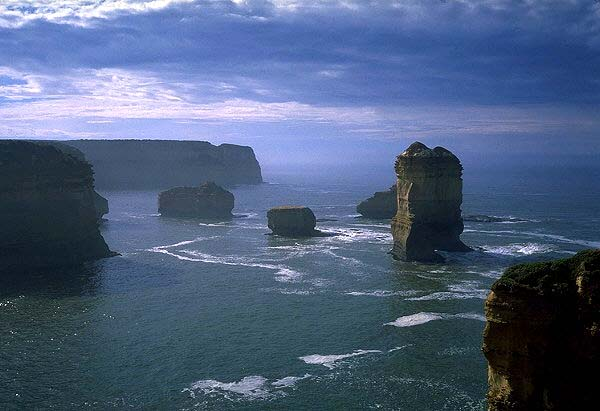 Opposite The 12 Apostles<br>Great Ocean Road<br>Victoria, Australia: The Great Ocean Road, Victoria, Australia : The Natural Order; Landscapes.