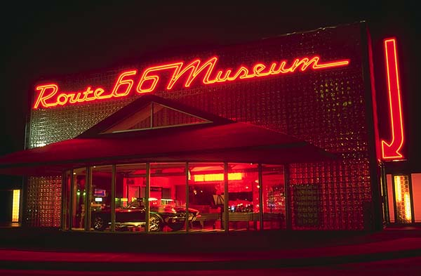 Route 66 Museum<br>Clinton, Oklahoma: Clinton, Oklahoma!, United States of America : Neon; Monuments.
