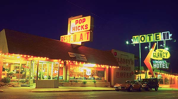 Pop Hick's and a Corvette<br>Clinton, Oklahoma: Clinton, Oklahoma!, United States of America : Cars; Eat-Drink.