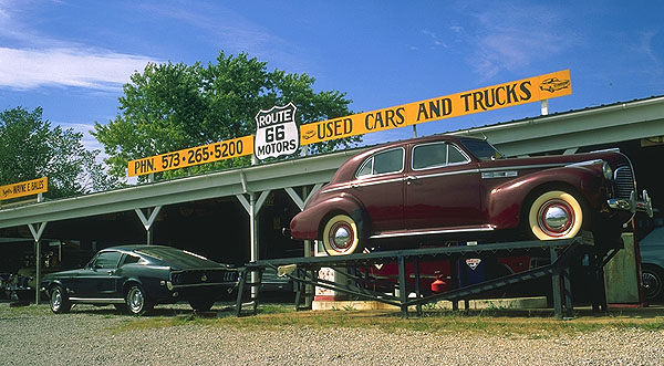 Another Abandoned Roadside Attraction<br>Missouri: Missouri Route 66, Missouri, United States of America : Cars.