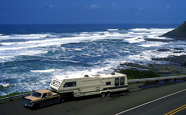 Rolling Thunder on the Coast<br>Oregon, USA: Oregon Coast, Oregon, United States of America : Coastal Shoreline Scenes; Rolling Thunder.