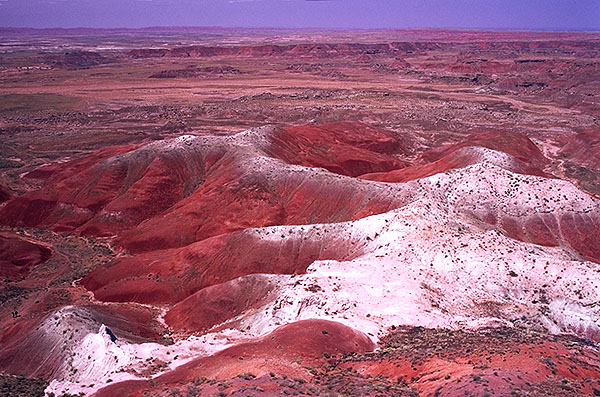 Outlook toward the Painted Desert<br>Petrified Forest National Park, Arizona: Petrified Forest National Monument, Arizona, United States of America : Landscapes.