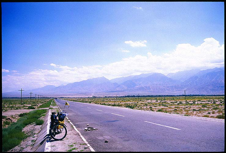Cycling the Hexi Corridor :: Gansu, China: Qilian Shan, Gansu, People's Republic of China : Landscapes; Rocket.