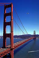 The Golden Gate Bridge :: With Seagull and Boat :: San Francisco, California
