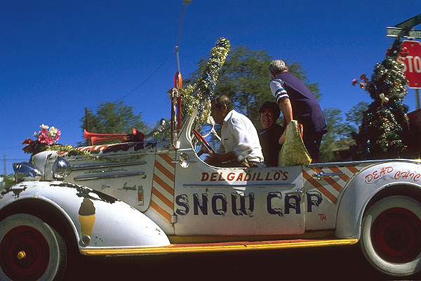 Juan Delgadillo wows the tourists<br>Seligman, Arizona: Seligman, Arizona, United States of America : Cars; People You Meet.