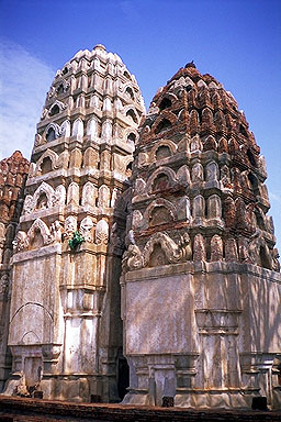 Khmer Style Phrangs<br>Sukhothai, Thailand: Sukhothai, Thailand : Ruins and Restorations.