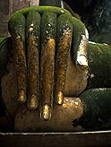 The hand of a large sitting Buddha :: Sukhothai, Thailand