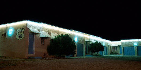 The Blue Swallow<br>Tucumcari, New Mexico: Tucumcari, New Mexico, United States of America : Motels and Motor Courts; Neon.