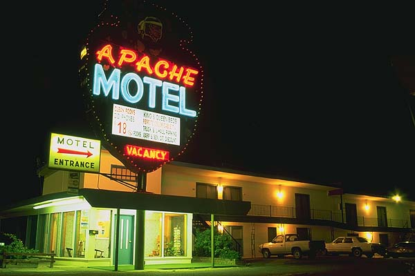 The Apache Motel<br>Tucumcari, New Mexico: Tucumcari, New Mexico, United States of America : Motels and Motor Courts; Neon.