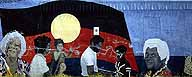 Aboriginal Flag :: Wall Mural in Townsville :: Queensland, Australia